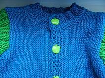 Detské oblečenie - dvojfarebný svetrík - 8177272_