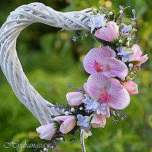 Dekorácie - Srdiečko svadobné - 8179085_