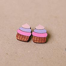 Náušnice - cupcake - napichovačky - 8178511_