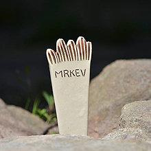 Pomôcky - Keramický zápich MRKEV - Zahradní keramika - 8178796_