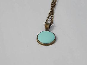 Náhrdelníky - náhrdelník minimal jar/leto (mandarinková) - 8177417_