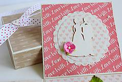 Papiernictvo - Svadobná krabička na peniaze - 8177351_