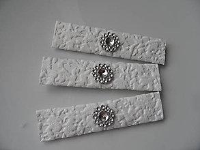 Darčeky pre svadobčanov - Žuvačky - štrasový kvet - 8177698_