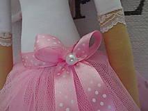 Bábiky - Anjelka v tylovej sukničke - 8181619_