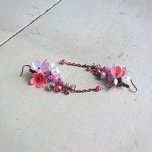 Náušnice - pink - 8180597_