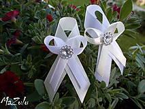 - bielo & maslové svadobné pierko - 8181188_
