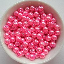 Korálky - Voskované perly 4mm-60ks (ružová ostrá) - 8179416_