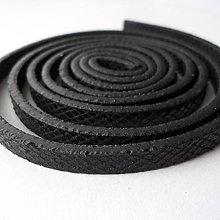 Galantéria - Remienok plochý 5mm-1m (čierna) - 8182375_