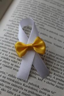 Pierka - Svadobné pierko zlato-žltá mašlička - 8181283_