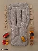 Textil - VLNIENKA Univerzálna letná podložka do športového kočíka a autosedačky proti poteniu BODKA béžová - 8182150_