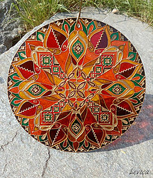 Dekorácie - Etno Mandala Cestovateľská-Dobrodružná - 8181658_