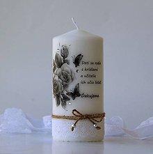 Svietidlá a sviečky - Sviečka s venovaním pre pani učiteľku III. - 8181938_