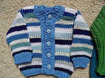 Detské oblečenie - modroprúžkovaný svetrík - 8181695_
