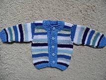 Detské oblečenie - modroprúžkovaný svetrík - 8181699_