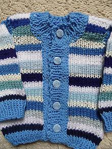 Detské oblečenie - modroprúžkovaný svetrík - 8181696_