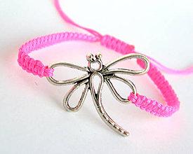 Náramky - neon pink vazka shamballa - 8180488_