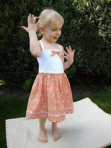 Detské oblečenie - DIEVČENSKÉ ŠATY baletka - 8182404_