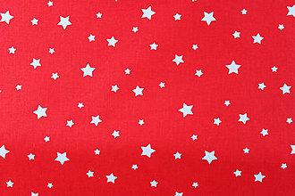 Textil - Bavlna hviezdičková červená - 8182309  ff3a22a64b