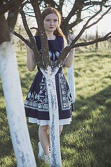 Šaty - Modrotlač holubička - 8182674_
