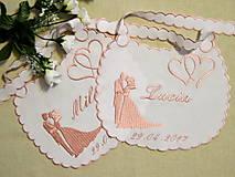 Iné doplnky - svadba -podbradníky vyšívané - 8180240_