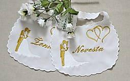 Iné doplnky - svadba -podbradníky - 8180531_