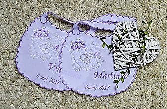 Iné doplnky - svadobné podbradníky-vyšívané - 8180176_