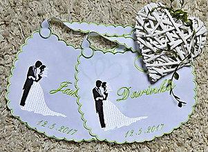 Iné doplnky - svadba -podbradníky vyšívané - 8180218_