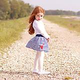 Detské oblečenie - Detská sukňa Navy & heart - 8180158_