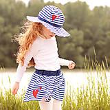 Detské oblečenie - Detská sukňa Navy & heart - 8180159_