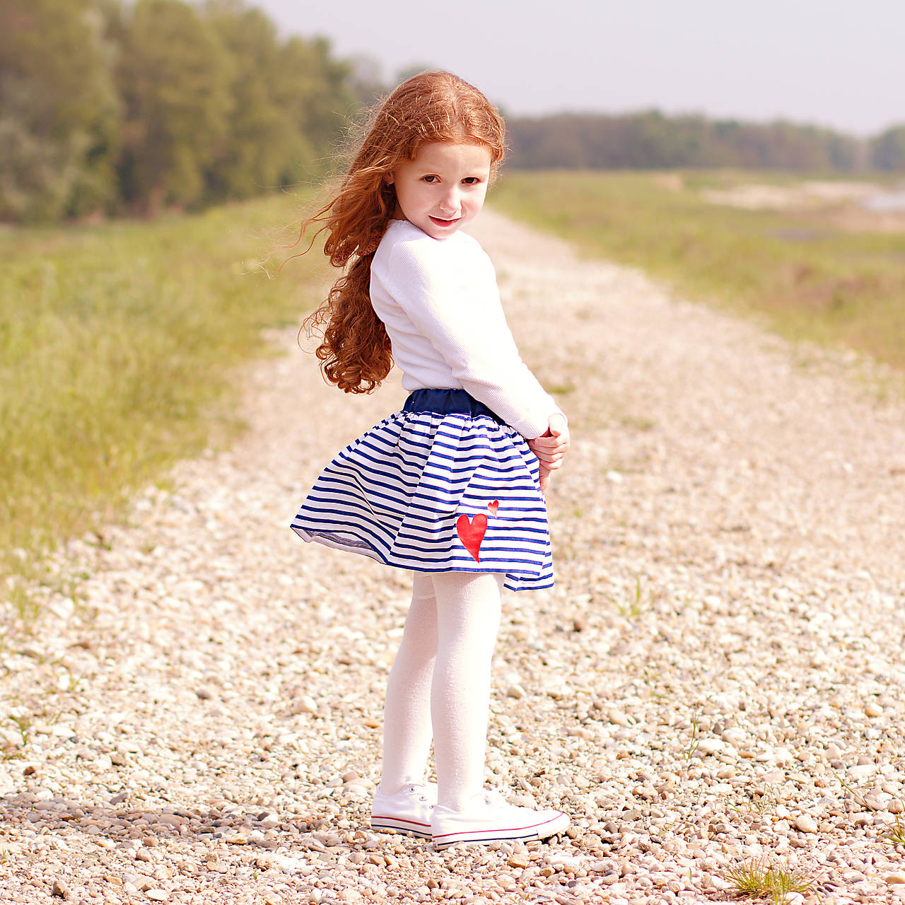 Detská sukňa Navy & heart