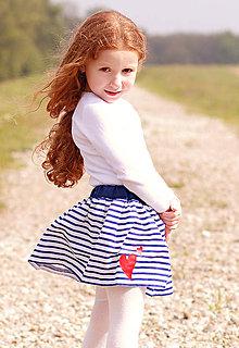Detské oblečenie - Detská sukňa Navy & heart - 8180157_