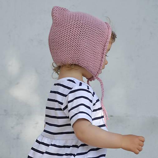 Detské čiapky - Čapkapuca...staroružová - 8182238_