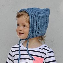 Detské čiapky - Čapkapuca...petrolej - 8182493_