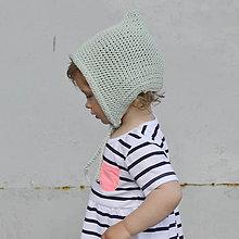 Detské čiapky - Čapkapuca...mentolová - 8182524_
