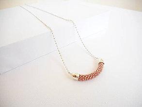 Náhrdelníky - SNAKE rose gold - dlhý náhrdelník - 8180539_