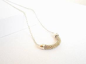 Náhrdelníky - SNAKE strieborný - dlhý náhrdelník - 8180602_