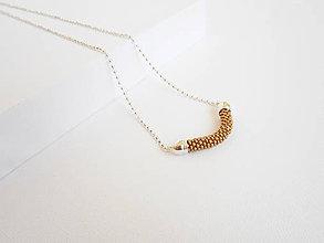 Náhrdelníky - SNAKE Gold Satine - dlhý náhrdelník, zlatý matný - 8180617_