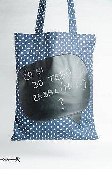 Nákupné tašky - Nezabudni kúpiť... (modré bodky) - 8182666_
