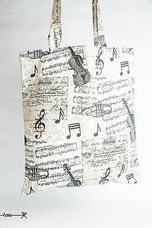 Nákupné tašky - niečo ako EKOTAŠKA - som hudobník - 8182698_