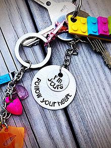 Kľúčenky - Follow Your HEART / Nasleduj svoje srdce - 8186303_