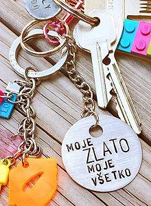 Kľúčenky - MOJE zlato MOJE všetko - 8186611_