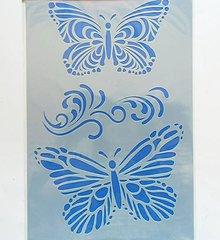 Pomôcky/Nástroje - Šablóna - 20x30 cm - motýľ, butterfly, ornament, filigrán - 8183575_