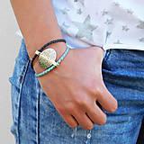 Náramky - náramok kožený - Tibet - 8183460_