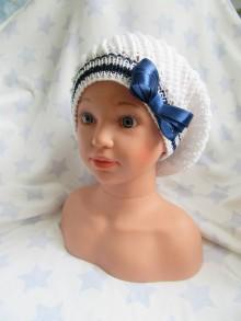 Detské čiapky - Baretka s mašličkou - 8183566_
