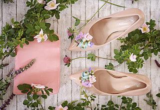 Obuv - Kvetinové klipy na topánky - 8186735_
