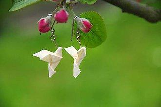 Náušnice - Májové holubičky - 8186609_