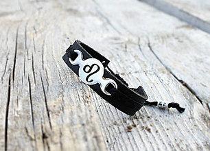 Šperky - Kožený náramok s textom na želanie NINO - 8186143_
