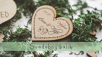 Darčeky pre svadobčanov - Svadobný balíček na zákazku - 8183354_
