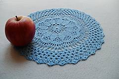 Úžitkový textil - Modrá háčkovaná dečka - 8183788_