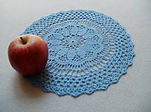 Úžitkový textil - Modrá háčkovaná dečka - 8183789_
